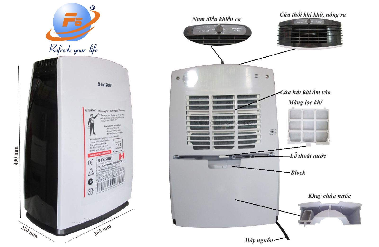 Mua máy hút ẩm tặng quà khuyến mại trị giá đến 5 triệu đồng